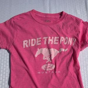 Ford Mustang pink t-shirt